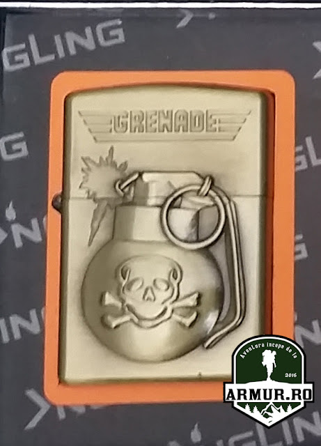 bricheta grenada tip zippo cu benzina, Army Military