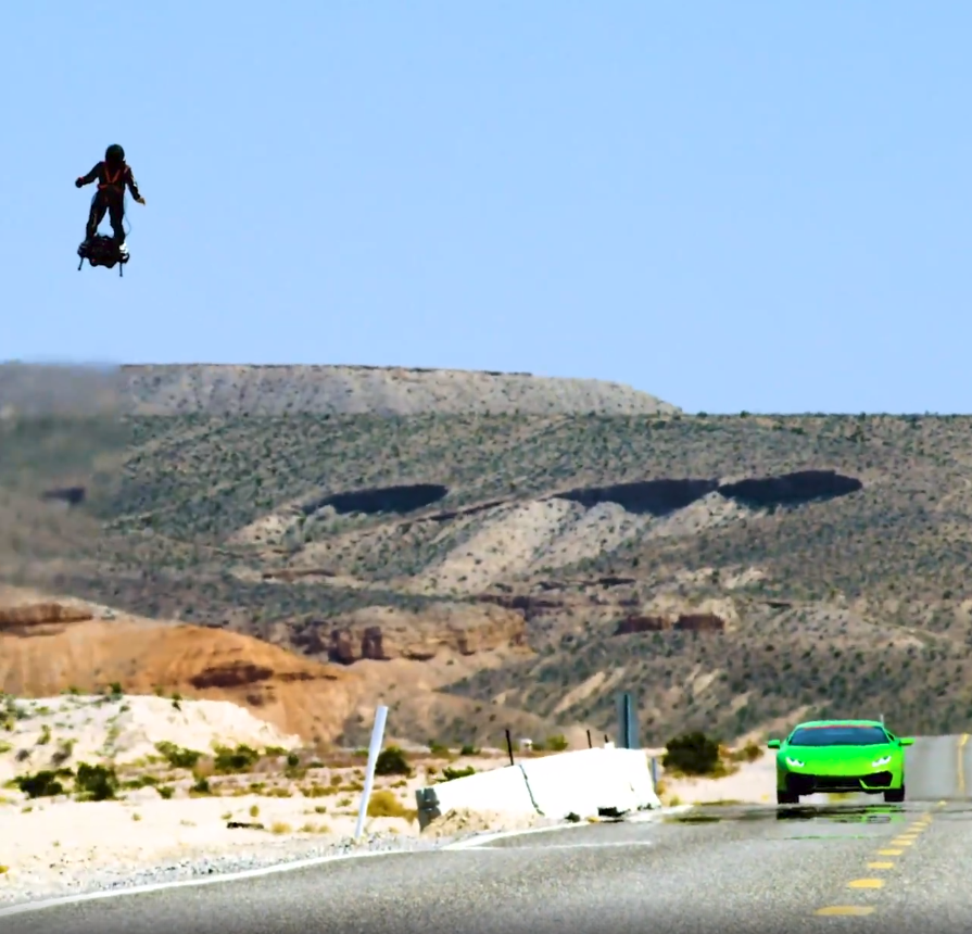UNREAL, JET RIDER! Rides jet board over 90 MPH – Video featuring Zapata Racing