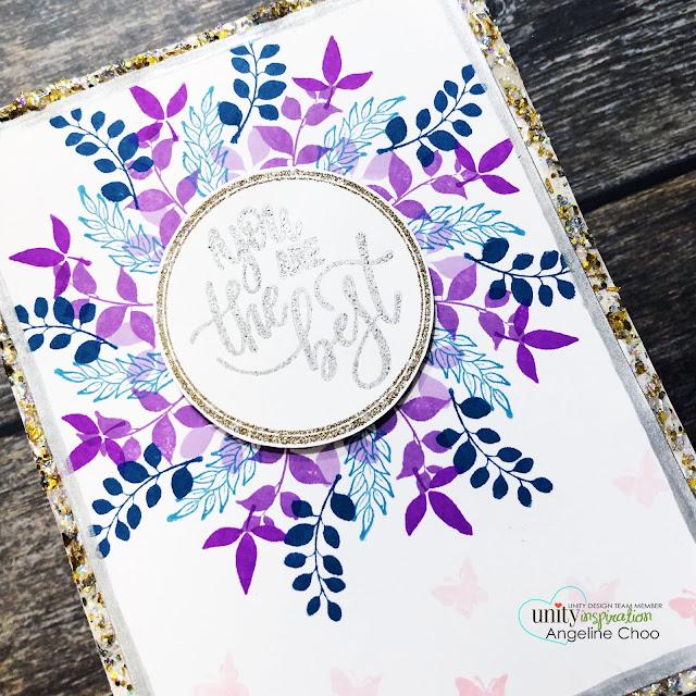 ScrappyScrappy: Unity Stamp & Gina K Wreath Builders #scrappyscrappy #unitystampco #ginakdesigns #wreathbuilder #card #cardmaking #altenewdyeink #altenew #wreath #glitterificpaint