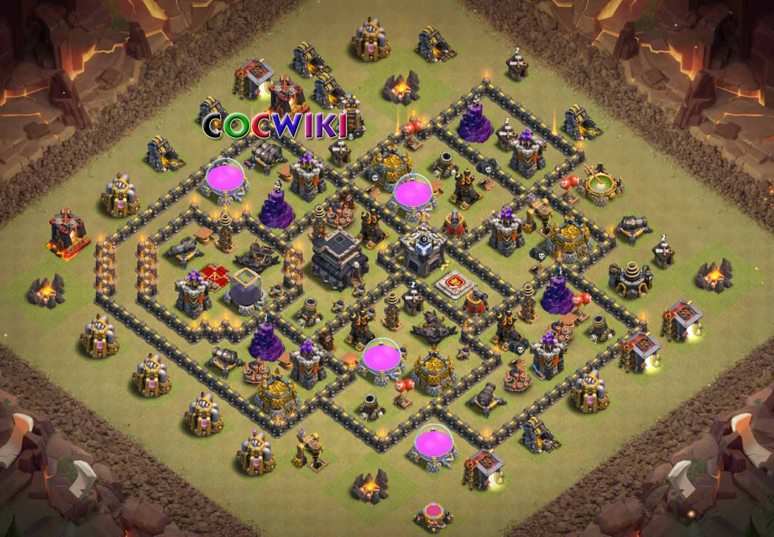 clash of clans town hall 9 layout