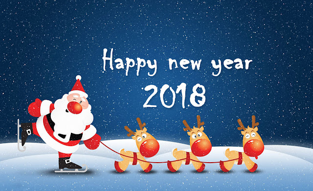 happy new year 2018 greetings hd wallpaper