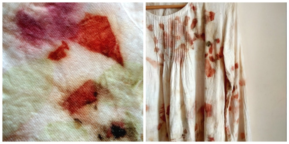 Ecoprinting and upcycling