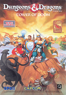 Dungeons & Dragons Tower of Doom arcade game portable flyer