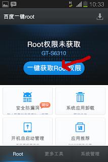 Easy Baidu Root Lenovo A850 Android apk