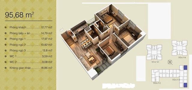 Căn 95,68 m2