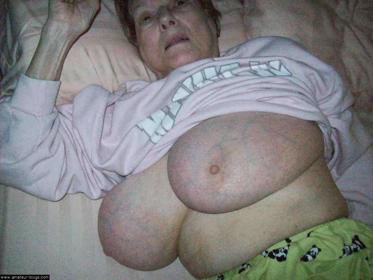 Granny Huge Boobs Tube