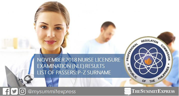 P-Z Passers: November 2018 NLE Results
