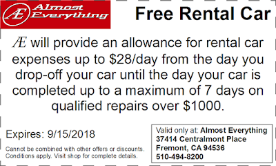 Coupon Free Rental Car August 2018