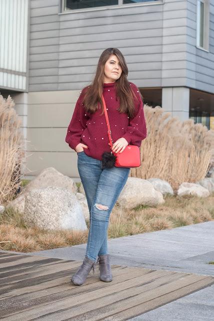 Spodnie i sweter stylizacja