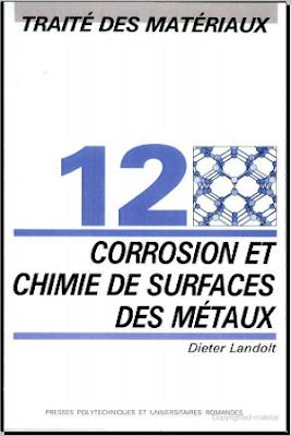 Télécharger Livre Gratuit Traité des matériaux - Volume 12 - Chimie et corrosion de surfaces des métaux pdf
