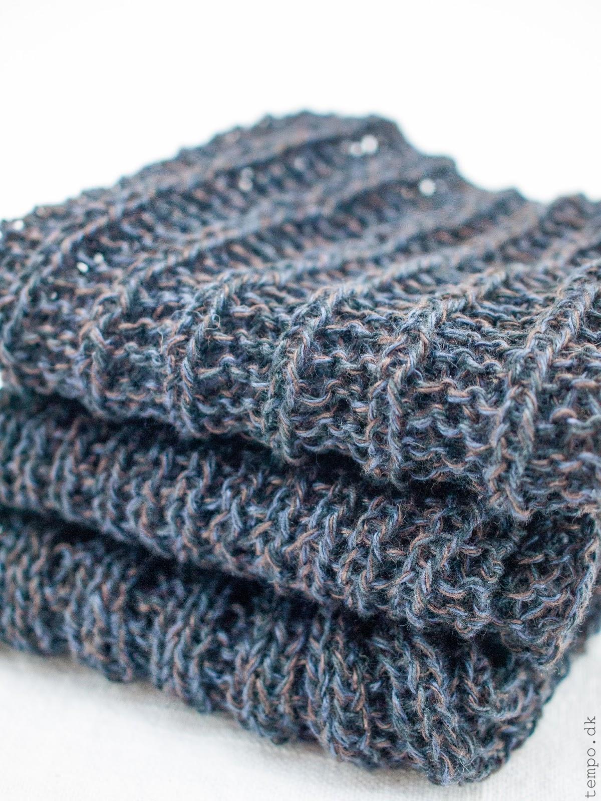 Oppskrifter på 3 strikkede karklude i hør