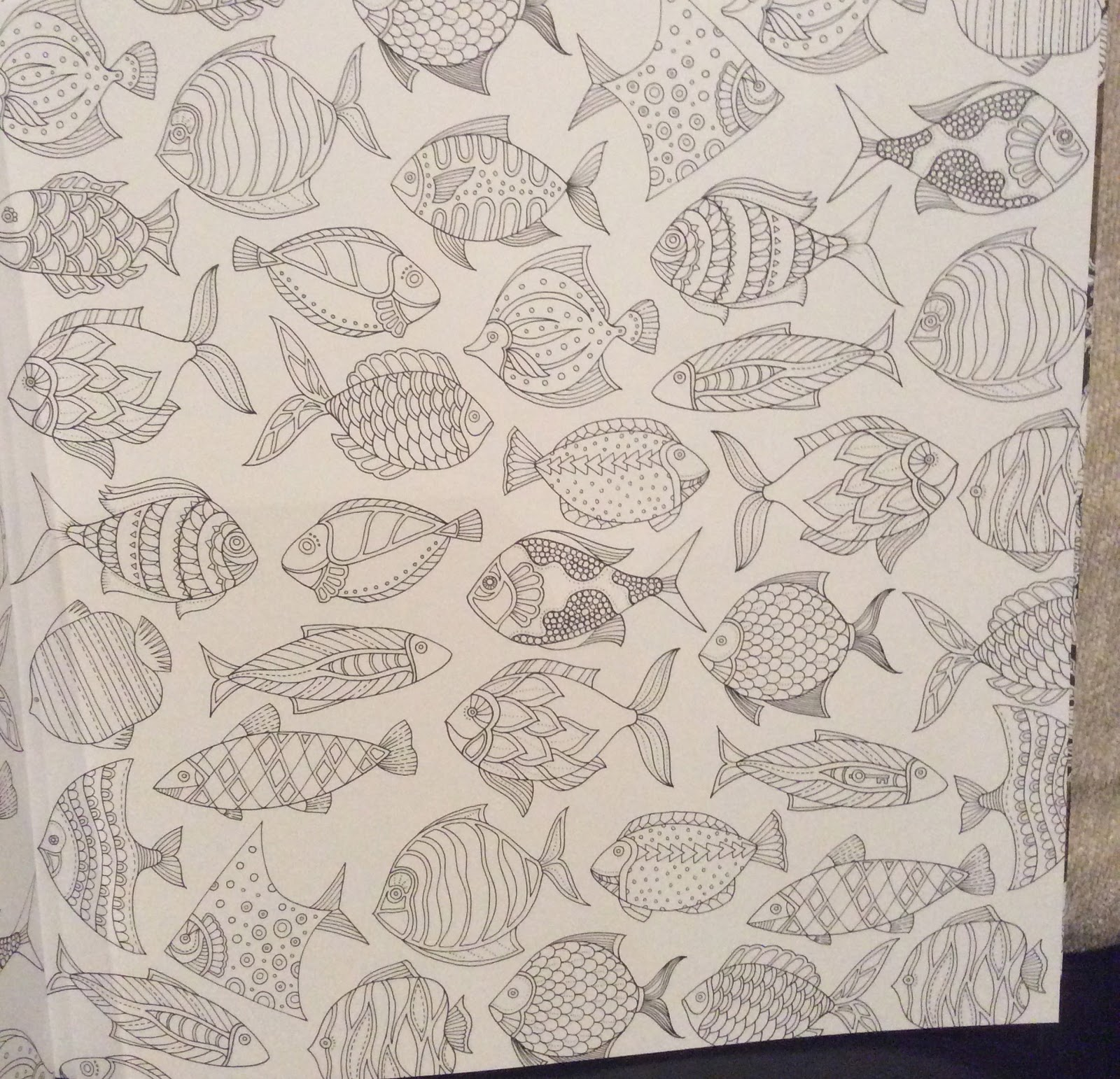 Off The Shelf Books Lost Ocean Colouring Book By Johanna