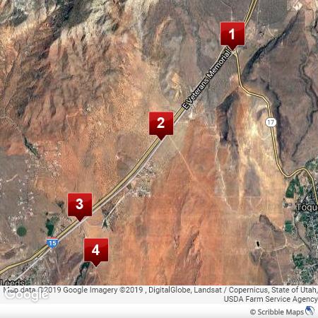 Southern Utah Gems on 15 freeway map, i 15 california map, i 15 idaho map, i-15 south map, i 15 mile marker map,