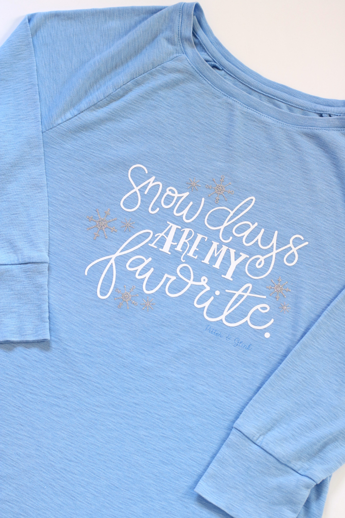 Hand Lettered Snow Days Tee