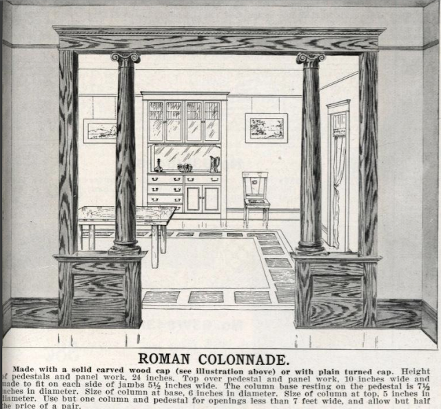 Sears 1912 building materials catalog showing Roman Colonnade