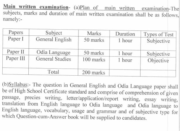 OSSC Inspector of Supplies Recruitment Apply Online Form