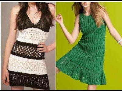 vestidos para niña y para dama tejidos a crochet