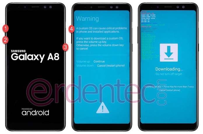 ROOT Samsung Galaxy A8 Plus 2018, Install TWRP