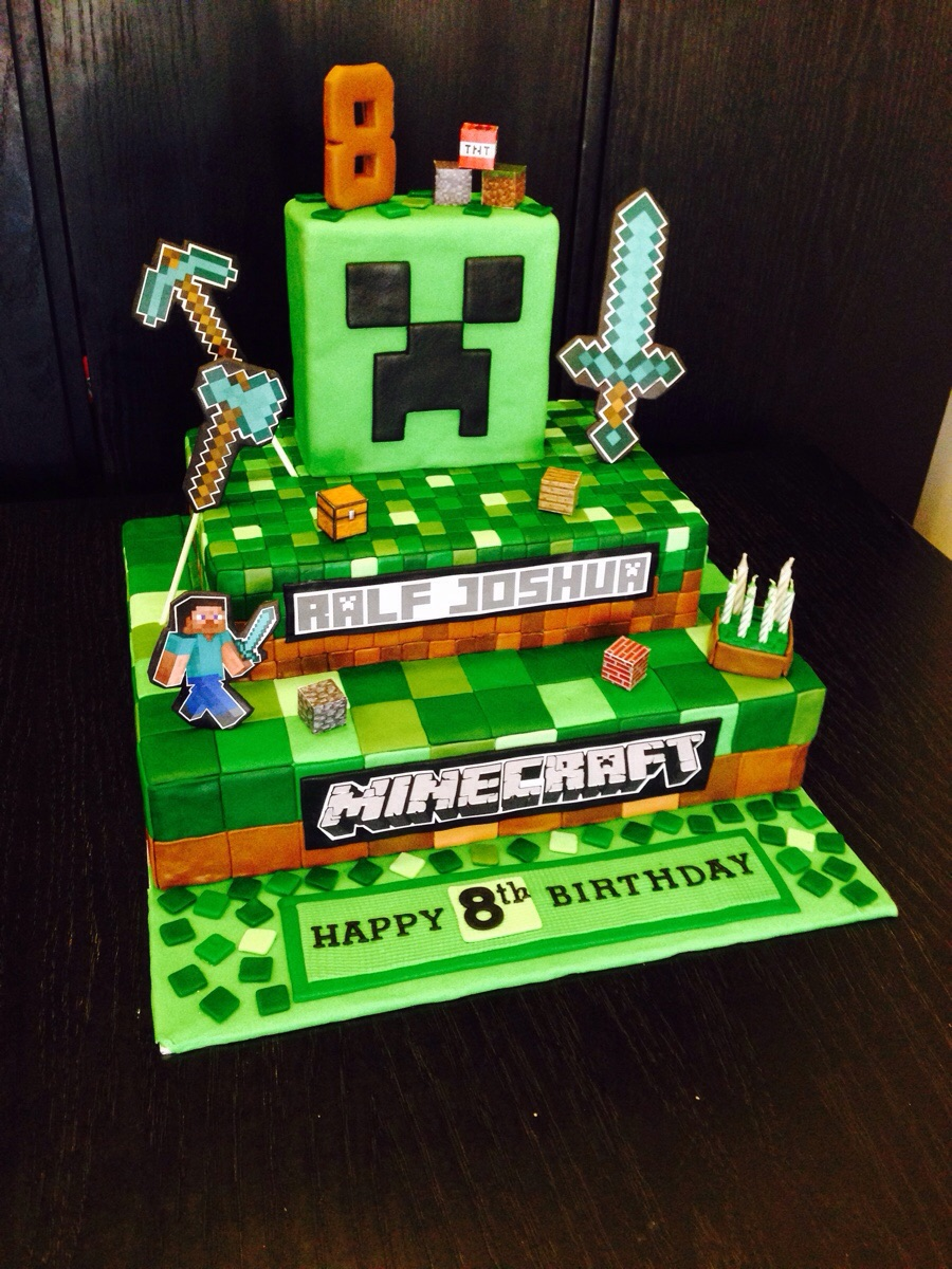 minecraft wedding cake da mam 227 lu festa de anivers 225 minecraft bolo de 17387