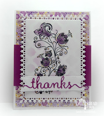 Our Daily Bread Designs Stamp Set: Seeds of Today, Our Daily Bread Designs Paper Collection: Plum Pizzazz, Whimsical Wildflowers, Lavish Layers, Double Stitched Pennant Flags, Boho Background, Thanks