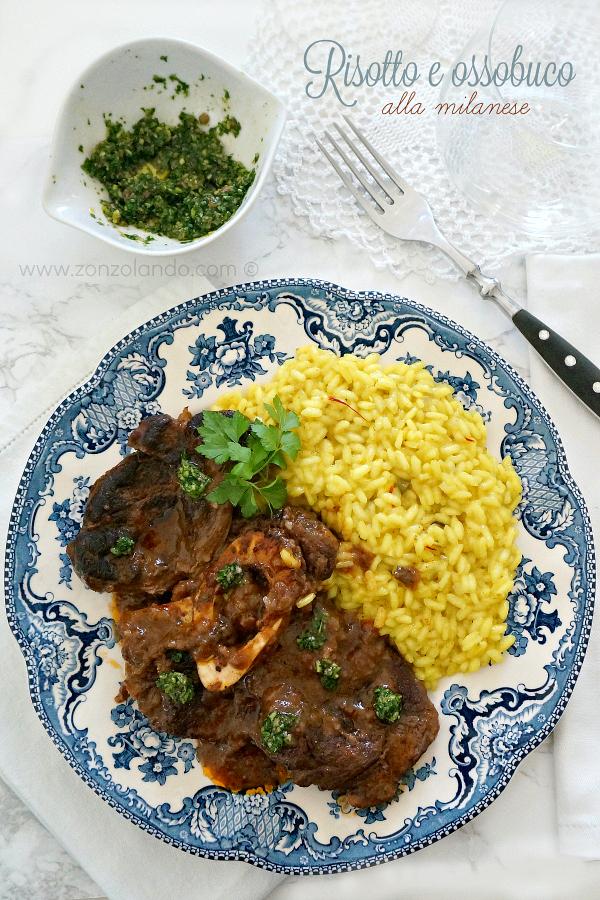 risotto zafferano e ossobuco alla milanese ricetta tradizionale gremolada zonzolando cucina lombarda