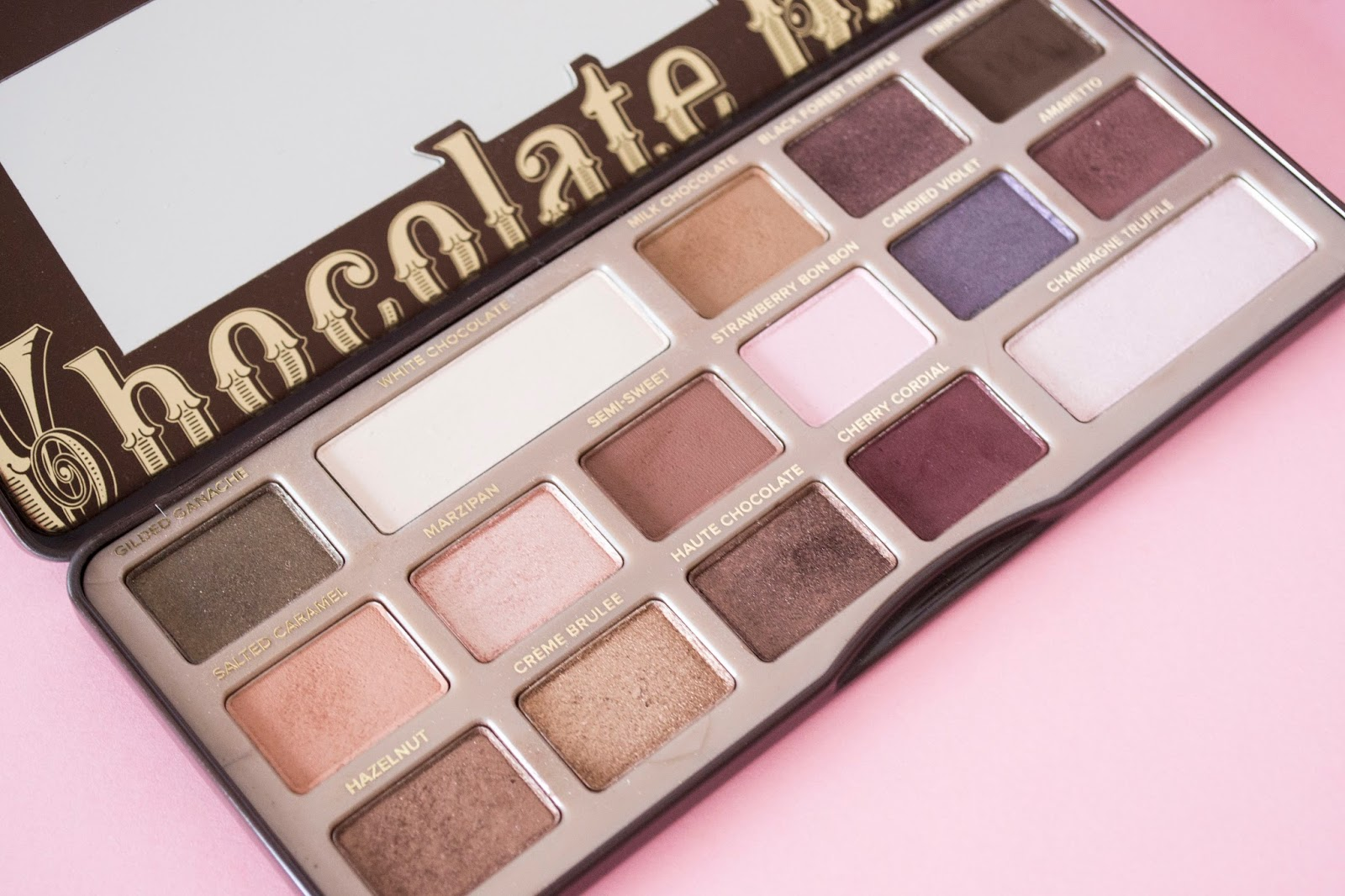 Favoritos de maquillaje 2017 paleta de sombras Chocolate Bar Too Faced