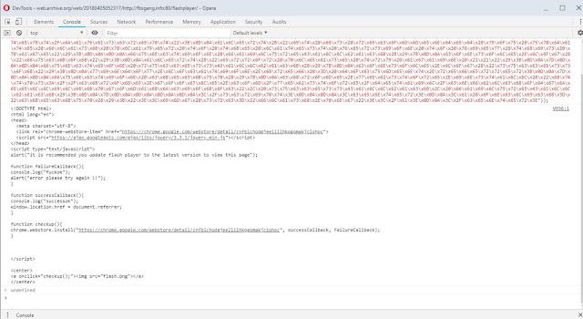 Aspecto do código JavaScript, após sua decodificação da segurança imagem