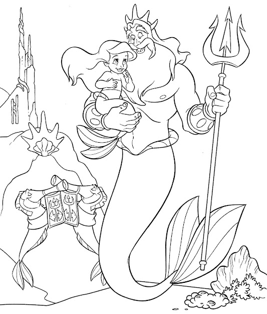 Printable Little Mermaid Coloring Pages Me