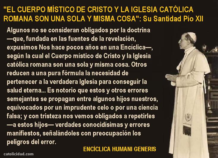 """Hermanas eremitas de Dios: ERRORES MODERNOS. (Encíclica """"Humani Generis"""") Pío  XII (continuación)"""