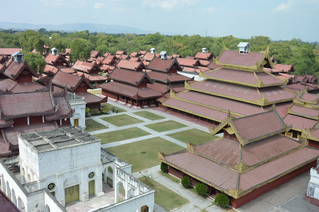 Vue global du palais royal de Mandalay