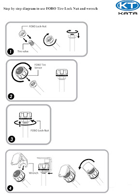 Cách khóa cảm biến áp suất lốp