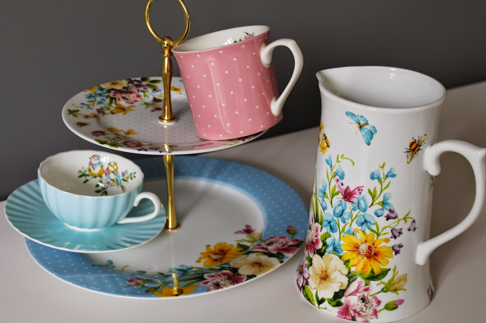 English Table Tea Party Review - Tea Stand, Jug, Tea Cup, Katie Alice
