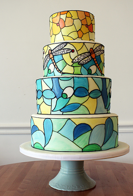 The Sensational Cakes Stained Glass Cake Modern Art