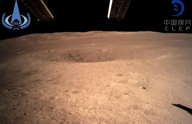 وصول المركبة الفضائية الصينية Chang'e-4 إلى الجانب الأبعد من القمر وتلتقط أول صورة
