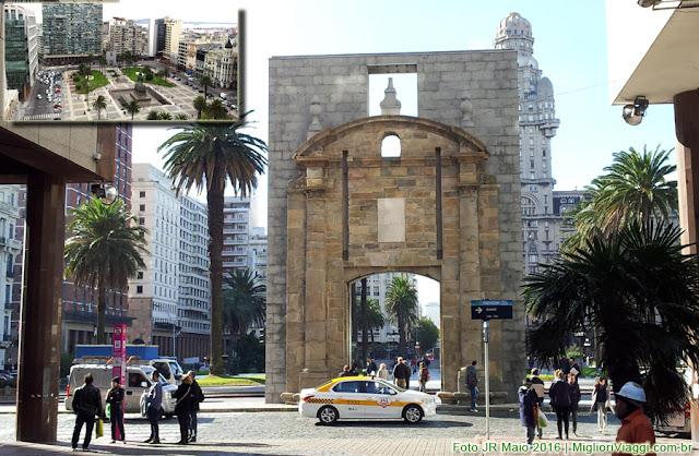Praça Independência e antiga Porta da Cidade