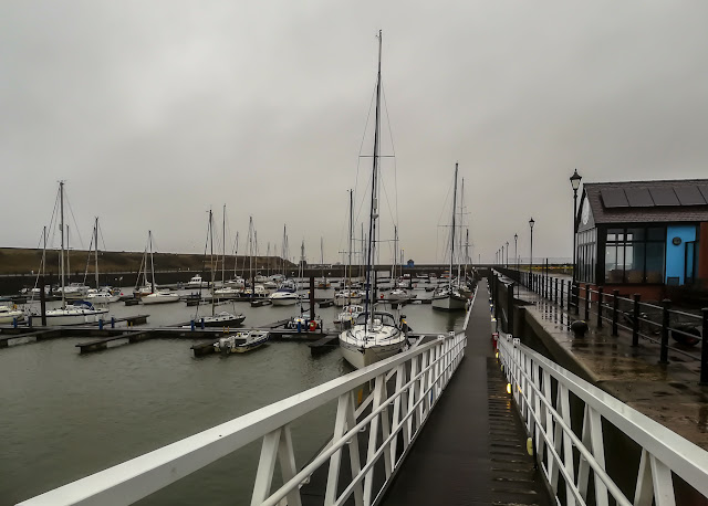 Photo of grey weather on Saturday at Maryport Marina