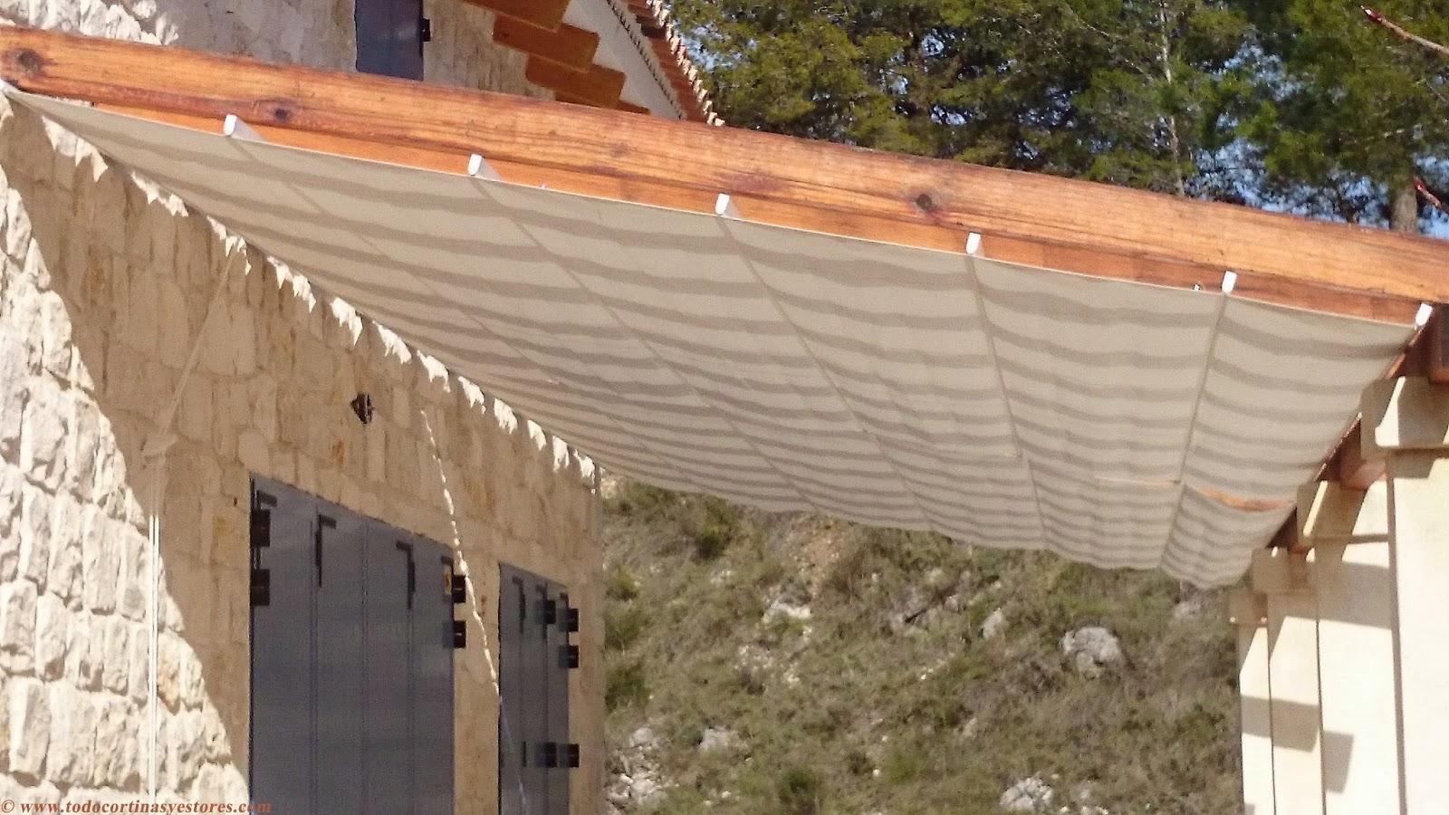 Decoracion interior cortinas verticales estores - Toldos para pergolas de madera ...