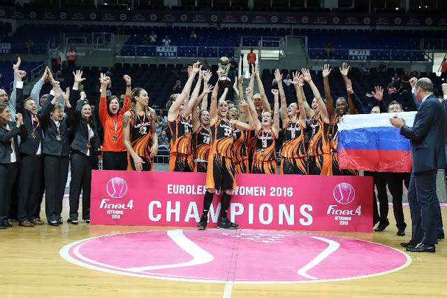 BALONCESTO - Euroliga femenina 2015/2016. Ekaterimburgo se corona en Europa 3 años después. Tercera Euroliga de Alba Torrens