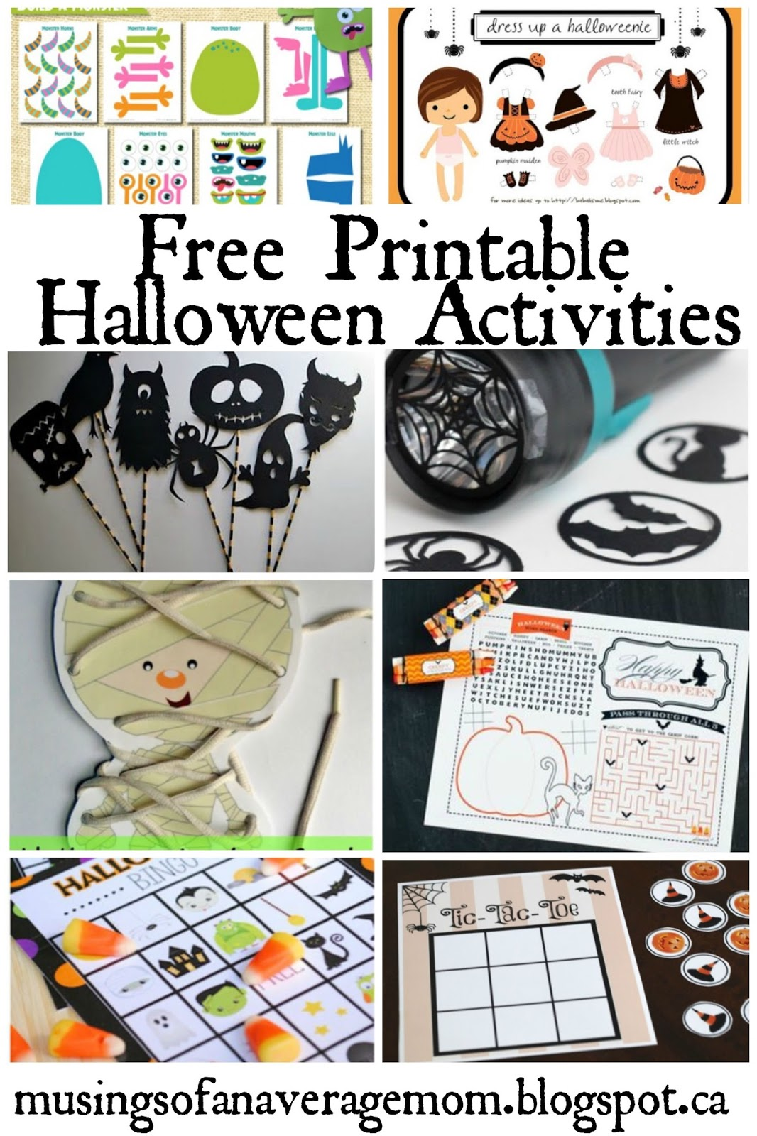 Musings of an Average Mom: Free Printable Games and Activities