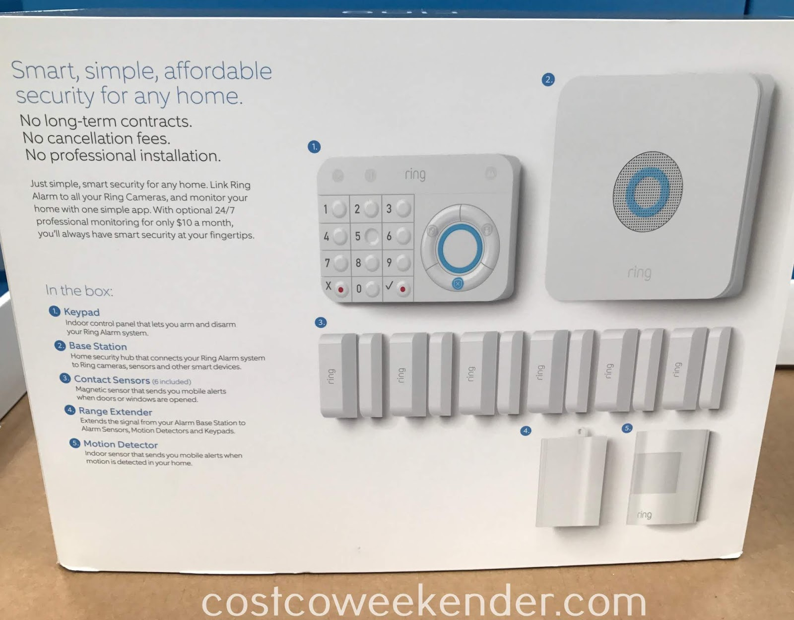 Costco 1261588 - Deter would-be criminals from entering your home with the Ring Alarm Home Security System