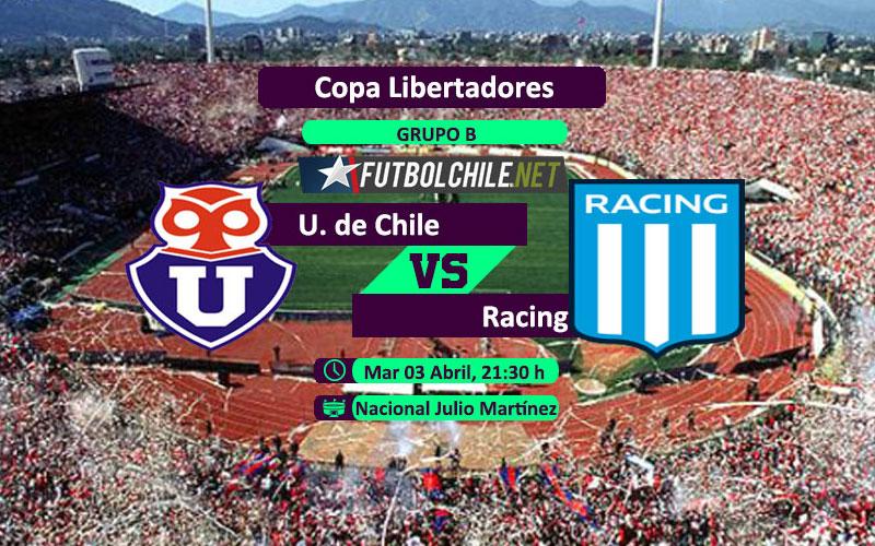 Universidad de Chile vs Racing: Previa, horario, dónde ver en vivo por TV y online por la Primera División