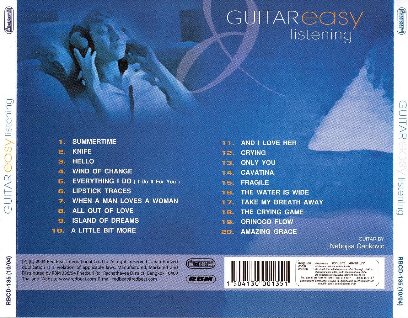 guitar nebojsa cankovic guitar easy listening 2004 flac. Black Bedroom Furniture Sets. Home Design Ideas