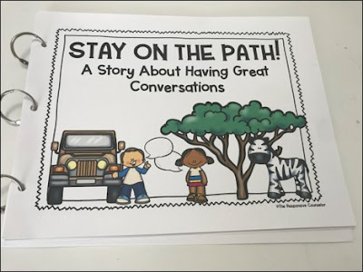 story for teaching staying on topic in conversations