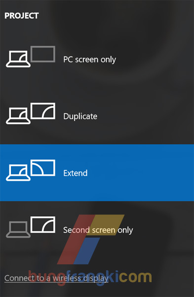 cara setup/setting dual monitor pada windows 10