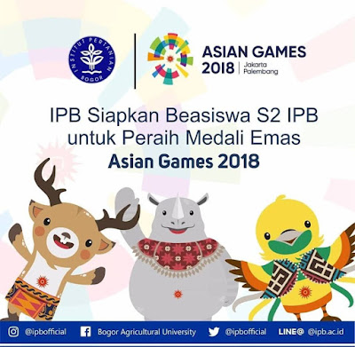 IPB Siapkan Beasiswa Bagi Peraih Medali Emas Asian Games