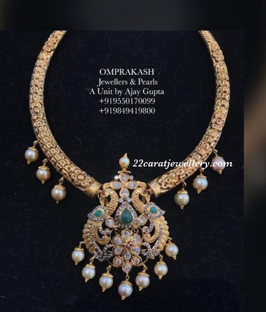 Peacock Hasil with Diamond Lockets