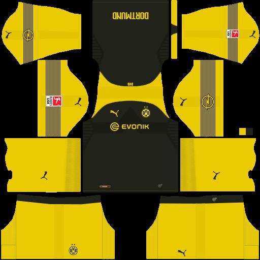 the best attitude b1da5 75526 Borussia Dortmund 2018/2019 DLS & FTS Kits and Logo - wid10 ...