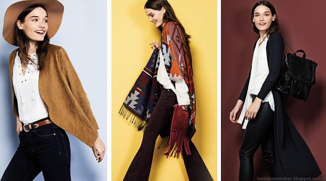 Moda otoño invierno 2016 mujer. Yagmour camperas, pantalones y ruanas otoño invierno 2016 moda mujer.