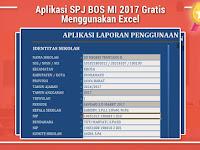 Aplikasi SPJ BOS MI 2017 Gratis Menggunakan Excel