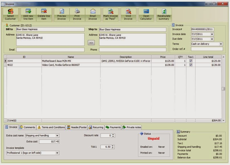 Invoice Maker Software F-Billing Easy to use invoice maker software
